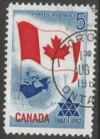 Canada. 1967 Canadian Centennial. 5c Used - 1952-.... Reign Of Elizabeth II