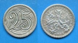Tschechische Rep. 25 Heller 1933 - SEHR SELTEN !! Schön                                (B46) - Repubblica Ceca