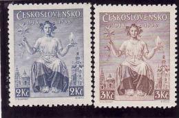 Tschechoslowakei 1938, Michel 404**- 405** - Ongebruikt
