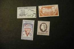 New Zealand Ross L5-8 MNH Ship Erubus Map Shackleton And Scott 1967 A04s - Unclassified