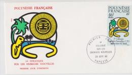 POLYNÉSIE FRANÇAISE  1ER JOUR  COLOQUE Sur Les Energies Nouvelles 29 Sep 1982 - Frans-Polynesië