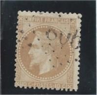 France  Napoleon III Lauré  N° 28A     Oblitéré     Valeur YT : 12,00 € - 1863-1870 Napoléon III Lauré
