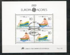 EUROPA CEPT -  1989   AZZORRE  BF  Usato - Europa-CEPT