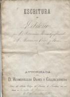 ESCRITURA DE DEBITORIO - AUTORIZADA POR D. HERMENEGILDO DANEY Y COLLDECARRERA - 1er DECEMBRE 1896 - Other