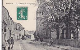 23285 Port Bail Portbail -Grande Rue Et Eglise -coll Rondel  Horloger -velo Coiffeur