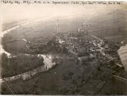Photo Du 36eime Escadron D'observation - Vue Aérienne De Sauveterre 1936 RARE -18cmx14cm - 1939-45
