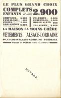 Buvard Textile - Vétement Alsace Lorraine - TB - Textile & Vestimentaire