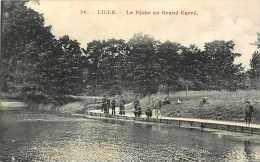 Départements Divers -nord - Réf .L291 - Lille - La Pêche Au Grand Carré  - Pêche à La Ligne  -carte  Bon état - - Lille