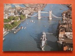 31780 PC: LONDON: H. M. S. Belfast Moored By Tower Bridge. - London