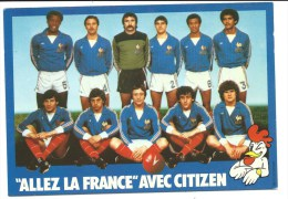 @ CP EQUIPE DE FRANCE DE FOOT FOOTBALL, LES BLEUS, COUPE MONDE 1982, PUB MONTRE MONTRES CITIZEN - Sportifs
