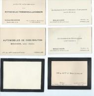 Automobile/Cartes De Visite/Agent Général Panhard Et Levassor/Hotchkiss/De Dion Bouton/Versailles/vers 1920       AC57 - Cars