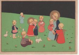 Scène Avec Enfants Et Petits Animaux, Illustrateur James Pennyless. - Pennyless, James