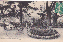 23293 Presles, Hotel De La Terrasse, Vue Sur La Foret  -ed Fremont Beaumont Oise -fillette Repas - Presles