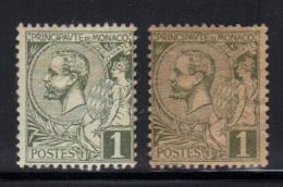MONACO- Y&T N°11- Neufs Avec Charnière *- 2 Teintes Papiers Différentes - Monaco