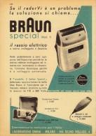 # RASIERER BRAUN 1950s Advert Pubblicità Publicitè Reklame Razor Rasoio Rasoir Rasuradora Electric Shaver - Rasierklingen