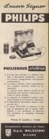 # RASIERER PHILIPS 1950s Advert Pubblicità Publicitè Reklame Razor Rasoio Rasoir Rasuradora Electric Shaver - Scheermesjes