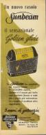 # ELECTRIC SHAVER SUNBEAM 1950s Advert Pubblicità Publicitè Reklame Razor Rasoio Rasoir Rasuradora - Razor Blades