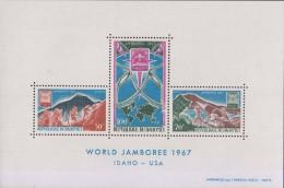 Mountain, Climbing, Scout, Scouting, Map, Boat, MS MNH Dahomey - Benin - Dahomey (1960-...)