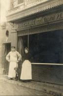 BOUCHERIE Carte Photo Devanture De Boucherie Boucher Gros Plan - Magasins