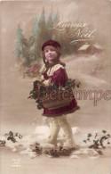 Petit Chaperon Rouge Avec Son Panier De Houx - Heureux Noel -The Little Red Riding Hood With Its Basket Of Holly - Happy - Non Classés