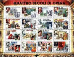 REPUBBLICA DI SAN MARINO - ANNO 1999 - QUATTRO SECOLI DI OPERA - MUSICA - NUOVI MNH ** - Nuovi