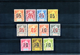 Sultanat D´ANJOUAN  ( N°20/30 - 11 Valeurs Chiffres Espacés - Complet)  Faux Fournier - Anjouan (1892-1912)