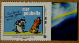 Mer01 Mer Poubelle  (autocollant) - France