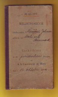 Old Personal Documents - Meldungsbuch, Universitat Wien 1911 - Sin Clasificación