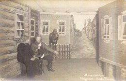 CARTE PHOTO : PRISONNIER DE GUERRE SCENE DE THEATRE KRIEGGEFANGENENSENDUNG KÖNIGSBRÜCK SACHSEN LAGER GEPRÜFT GUERRE - Weltkrieg 1914-18