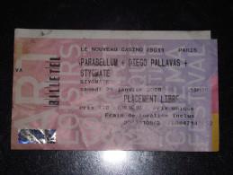 Ticket De Concert Le Nouveau Casino, 26 Janvier 2008. Parabellum / Diego Pallavas / Stygmate - Tickets De Concerts