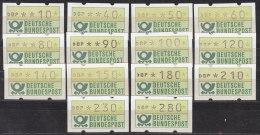 BRD ATM 1.1 Hu TS1, Postfrisch**, 14 Marken - [7] Federal Republic