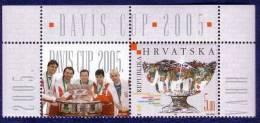 TENNIS - DAVIS CUP WINNER 2005. ( Croatie Timbre & Vignette MNH** ) Pilic , Ivanisevic , Ljubicic , Ancic , Karlovic - Croatia