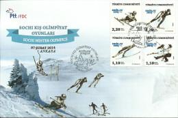 Turkey; FDC 2014 Winter Olympic Games, Sochi - Winter 2014: Sochi