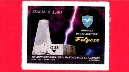 NUOVO - ITALIA - 2012 - 70º Anniversario Della Battaglia Di El Alamein - Folgore - Brigata - 1,40 € • Sacrario Militare - 6. 1946-.. Republic