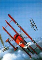 (12927) Postcard - Aircraft - Red Baron's Fokker Dr I - Modern / Large. - Oorlog 1939-45