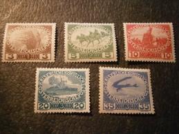 Österreich - 1910 Kriegswitwenhilfe Satz Komplett Michel Nr. 180-184 Postfrisch - 1850-1918 Empire