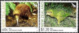 New Zealand - 2011 - Flightless Birds - Mint Stamp Set With Charity Surcharge - Ongebruikt