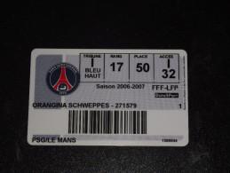 Billet PSG / MUC 2007 (Le Mans) - Other