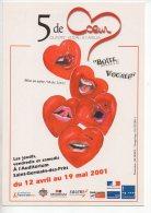 REF 167  : CPM Cart'com 2001 5 De Coeur Boite Vocale - Publicité