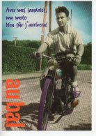 REF 167  : CPM Cart'com Le Bal De L'Elysée Montmartre Moto Au Bal - Publicité