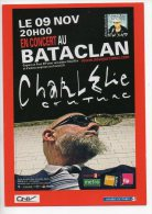 REF 167  : CPM Cart'com Charlelie Couture Au Bataclan - Publicité