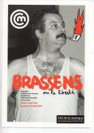 REF 167  : CPM Pub BRASSENS Expo - Publicité