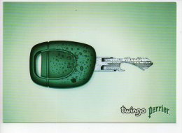 REF 167  : CPM Pub Renault Twingo Perrier - Pubblicitari