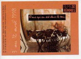 REF 167  : CPM Pub Cart'com Films De Femmes 1998 CRETEIL - Publicité