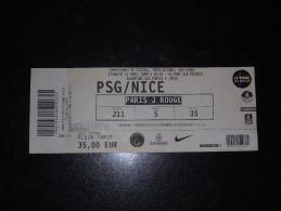 Billet PSG / OGCN (2008) (Nice) - Autres