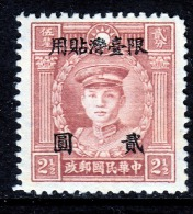 Taiwan  74   * - 1888 Provincia China