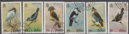 BELIZE, 1980 BIRDS 6 CTO - Belize (1973-...)