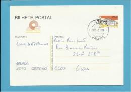 VALADA CANCEL CARIMBO - INTEIRO POSTAL STATIONERY - PORTUGAL - CTT - 2 SCANS - Enteros Postales