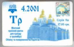 Ukraine: Month Trolleybus Card From Kiev (6) - Season Ticket