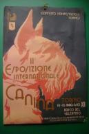 PFT/52 PUBBLICITA´- MANIFESTO II^ ESPOSIZIONE CANINA Anni '30/FASCIO LITTORIO/CANI - Targhe Di Cartone